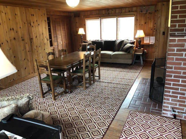 Living area and space for queen air mattress
