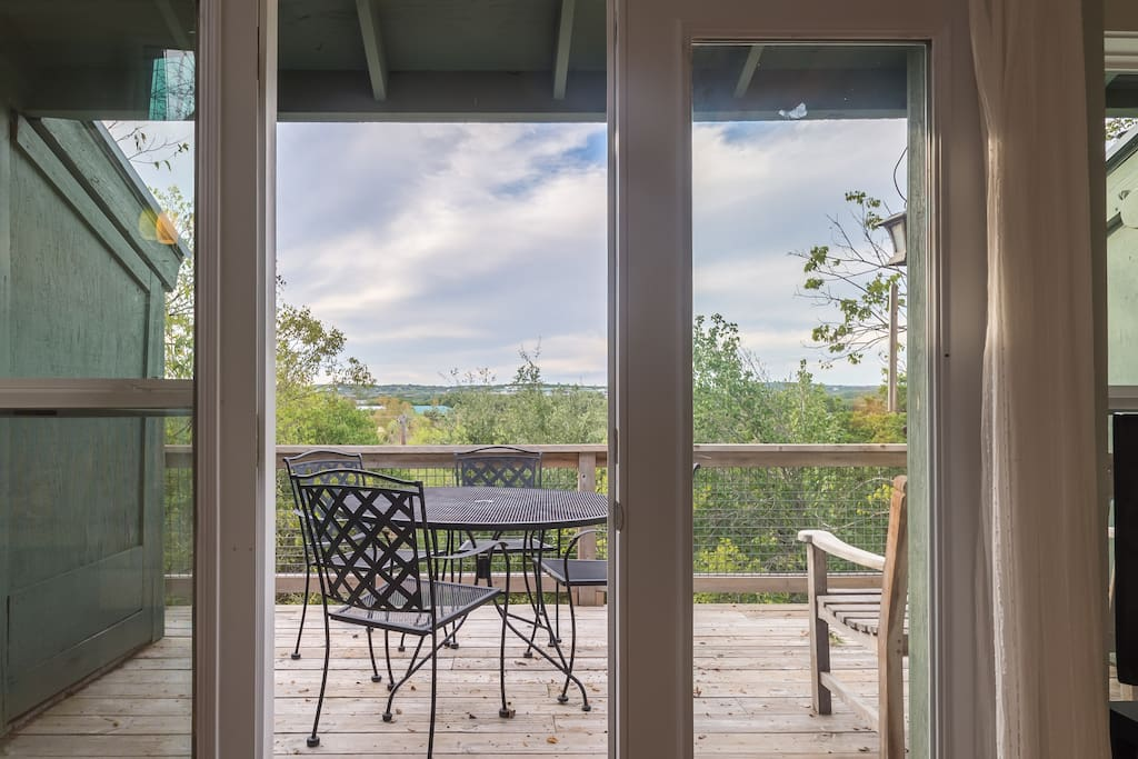 Have your morning coffee or evening wine on the deck, watching the sunset.