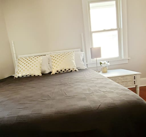 Our two bedrooms both have new Memory Foam Queen Mattresses for your sleeping bliss.