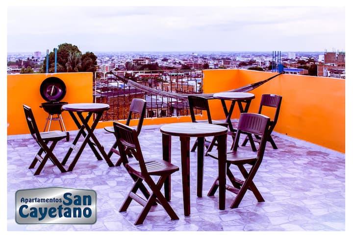 Apartaestudio San Cayetano-402 para dos personas