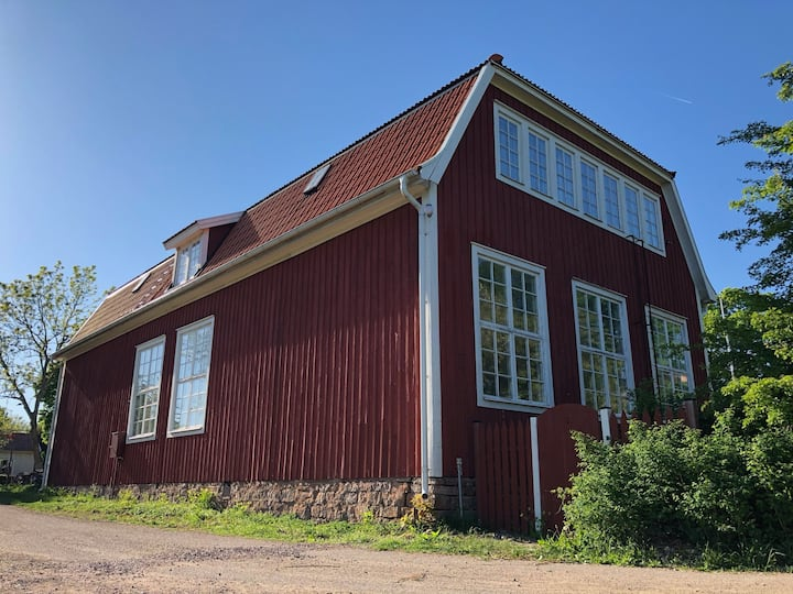 100 year old school close to Borgholm, Öland