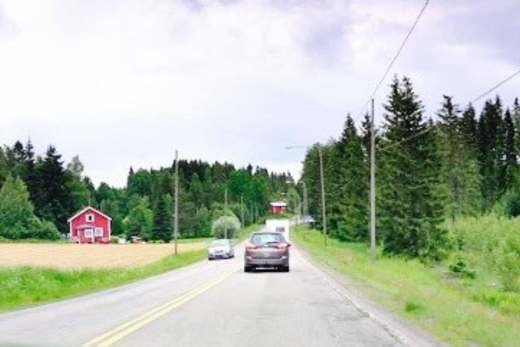 Дорога из центра Porvoo до Ilola