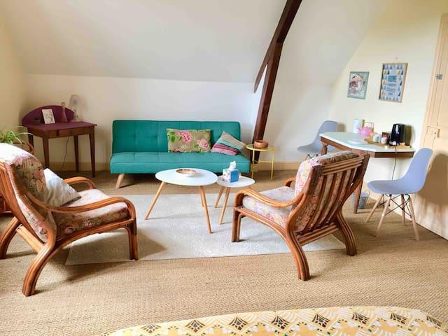Très grande chambre/ table d'hôte Eglantine Crocq