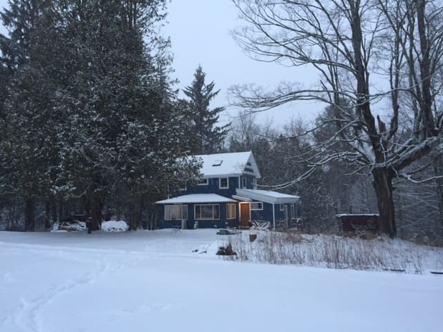 Newly Renovated Farmhouse Modern Catskill Retreat
