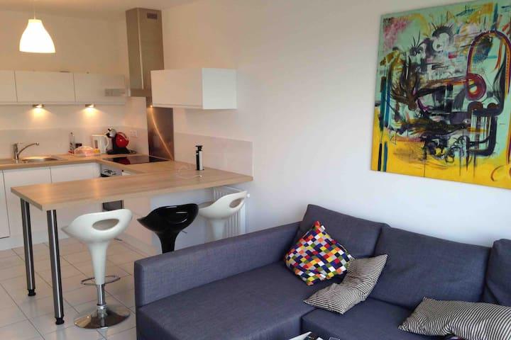 Appartement avec balcon proche plage