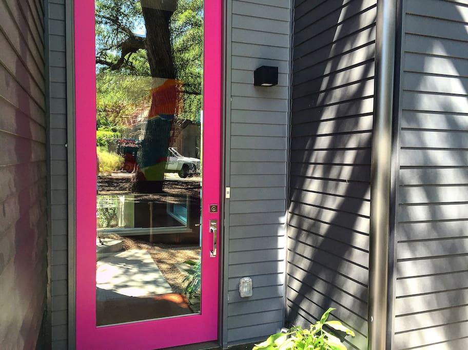 Entry PINK door