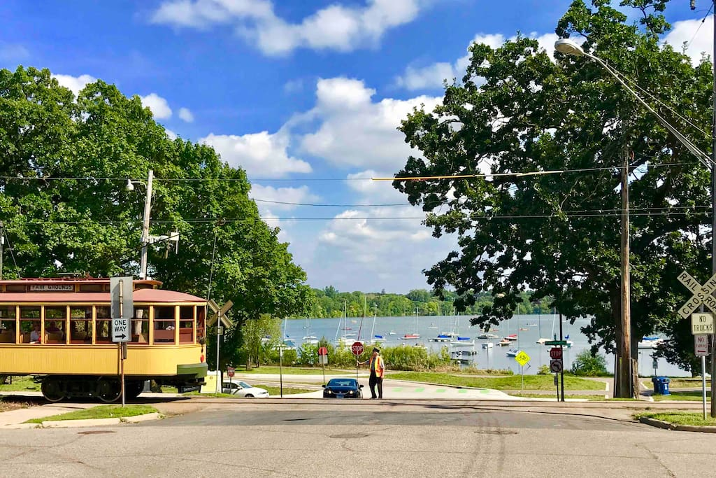 Location, location, location...  Our Airbnb is just a few steps to Lake Harriet. You'll be charmed from the very moment you drive up and get a glimpse of Lake Harriet.