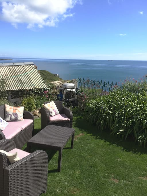 Enjoy a cup of tea or coffee in our garden whilst looking out to sea.