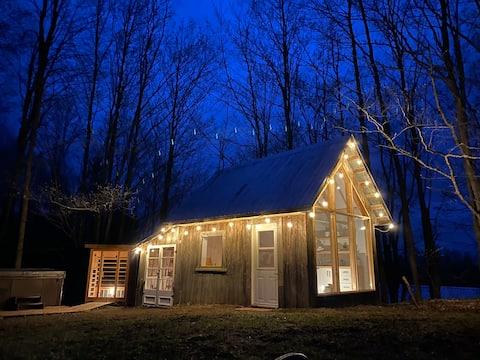 La cabane chic avec spa et sauna