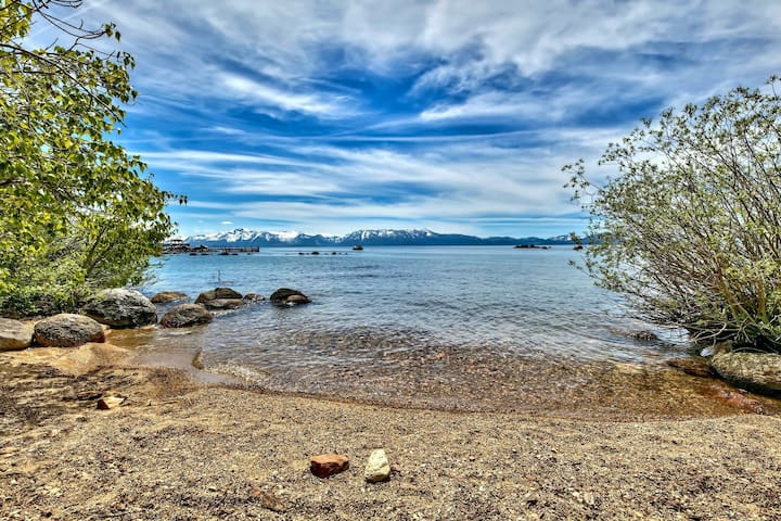 Lake Tahoe Large Estate Steps to the Lake with Hot tub an Gold Miner Cabin: MV49
