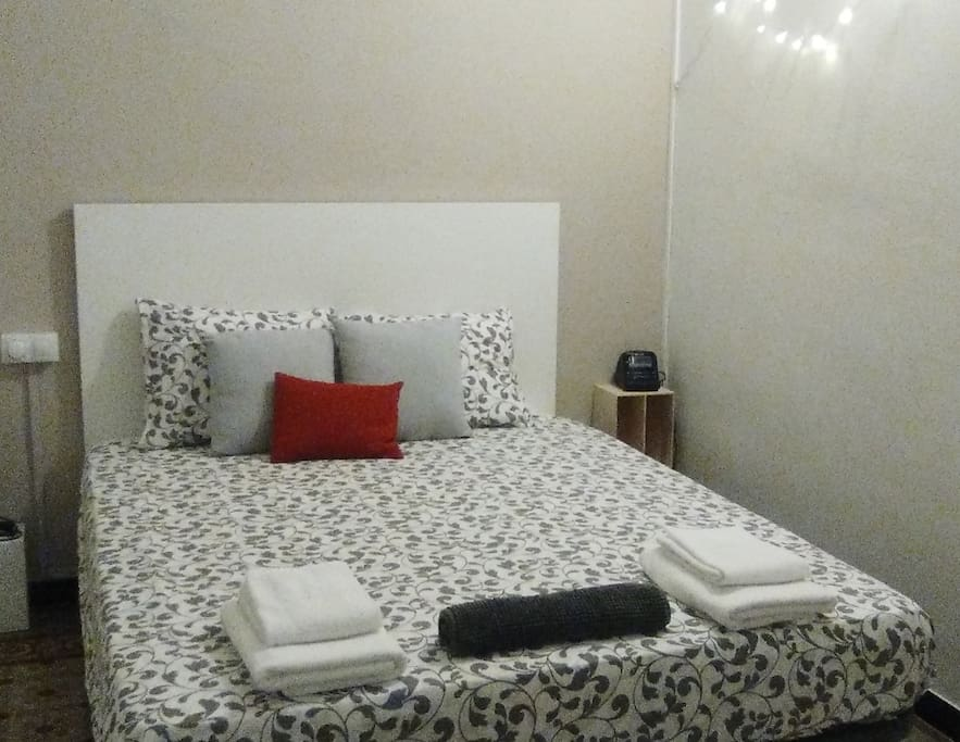 Your room with Queen size bed