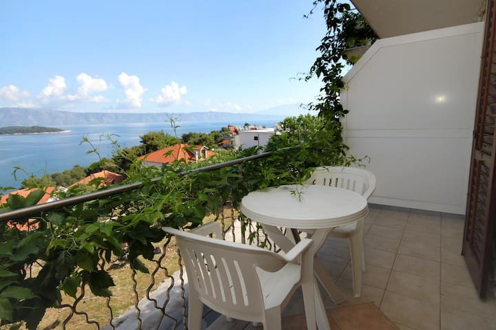 Two bedroom apartment with terrace and sea view Jelsa, Hvar (A-8765-e)