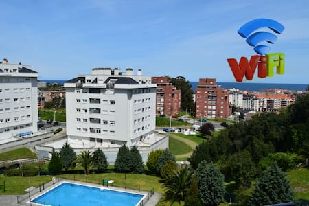 Apartment with Pool & 2 Terraces. View. WIFI - Castro Urdiales - 公寓