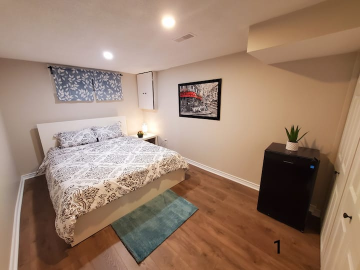Clean, new renovated rooms with full kitchen.