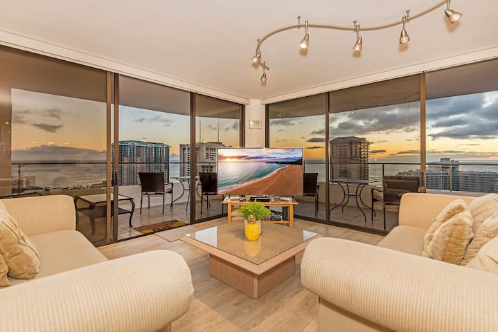 *Professionally Sanitized*Diamond Head & Ocean View Condo at Canterbury Place - Canterbury Place Ocean 2 BDR on the 36th Floor