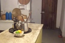 Kitchen is 7 metres long with a 2.5m central island for cooking and conversation!