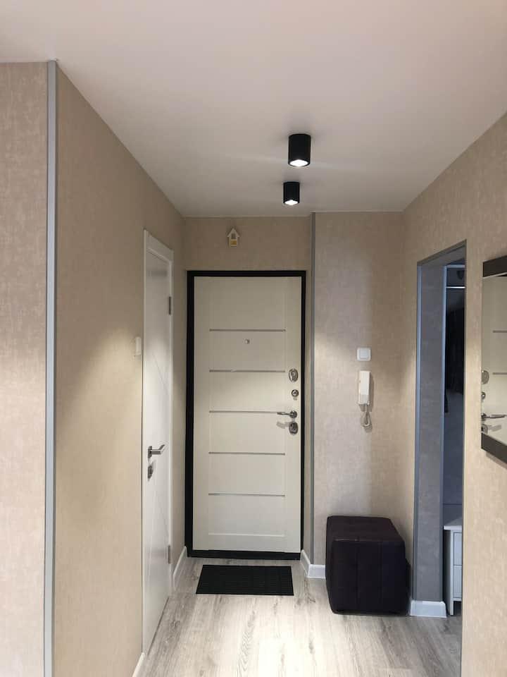 уютная квартира со свежим современным ремонтом