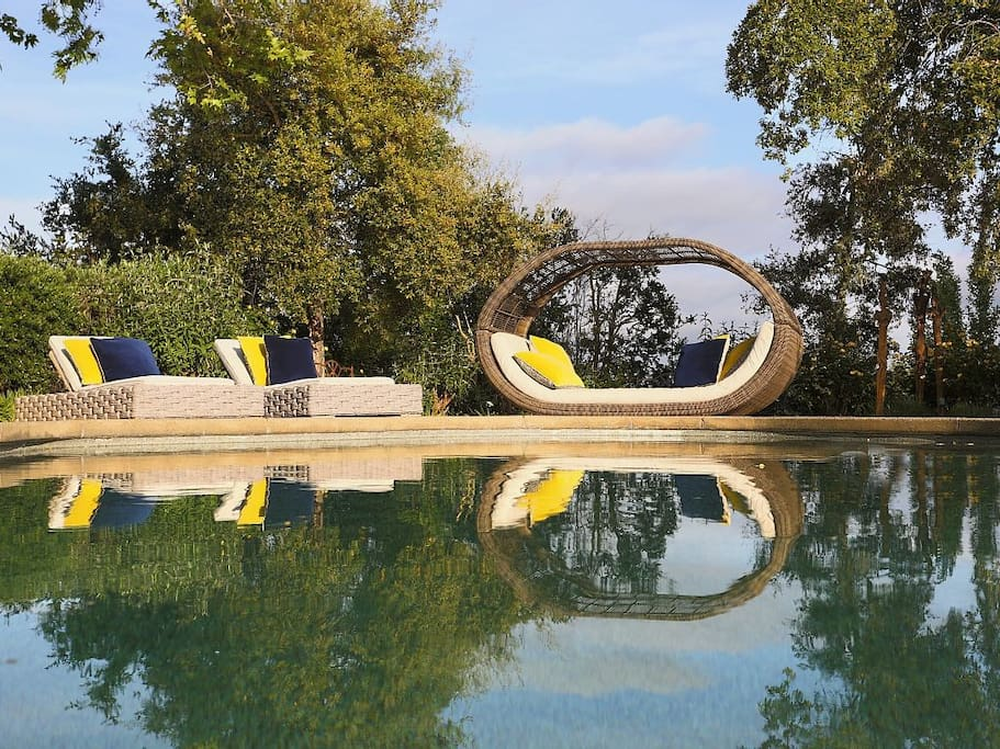 Sunbathe, refresh in the pool and let loose in this completely private oasis