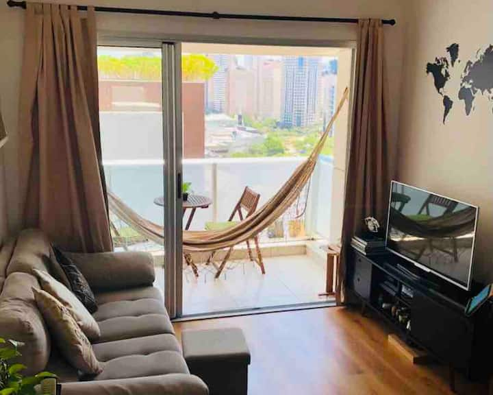 Modern flat, 2 bedrooms, next to Shopping Morumbi