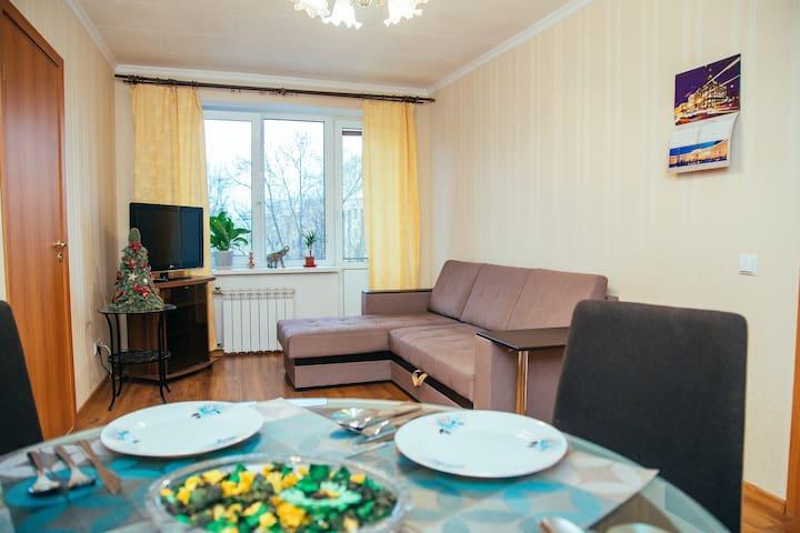 Уютная квартира рядом с Петропавловской крепостью