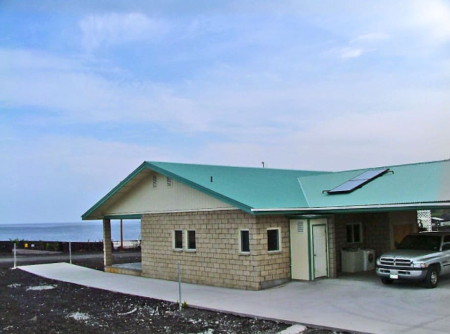Ocean views from the home with large covered Lanai and Garage.