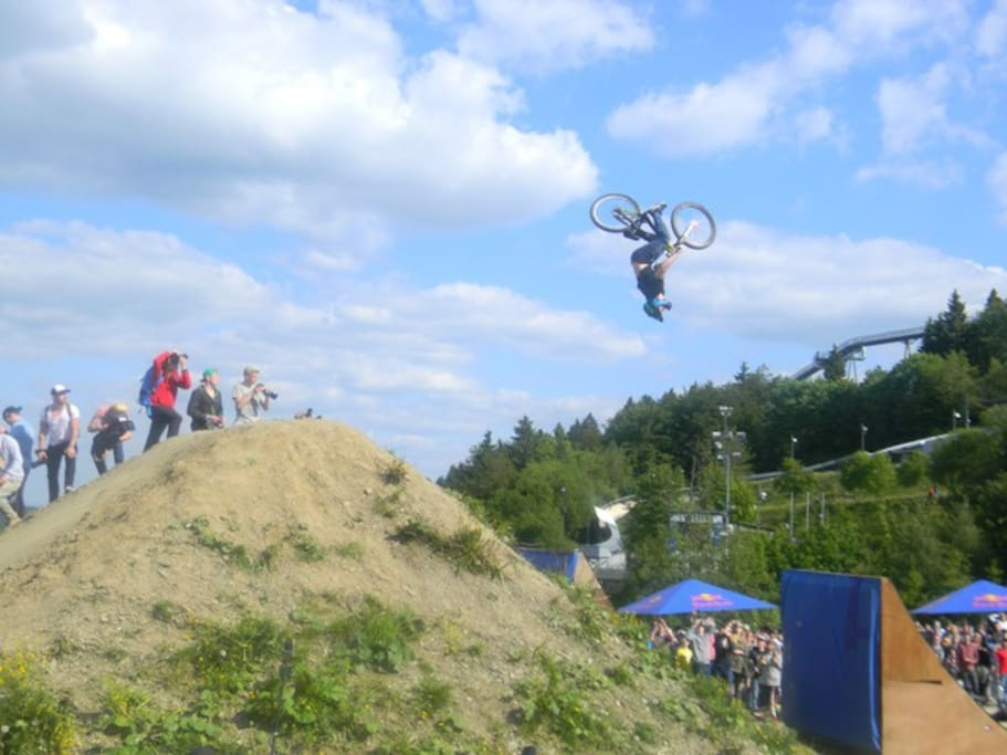 Slopestyle Park 150 Meters 400 Feet away