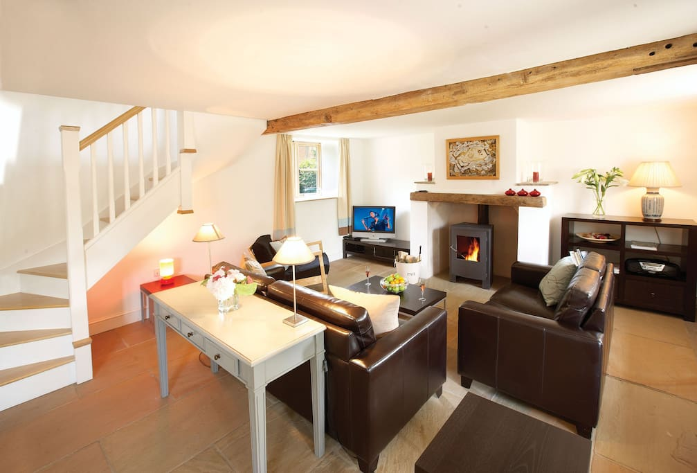 Ground floor: Open plan spacious kitchen, dining and sitting room area