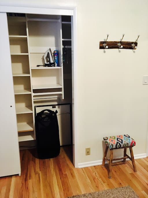 Lots of open closet space.