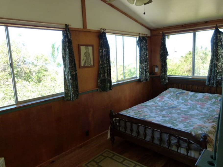 2nd floor bedroom with panorama view.