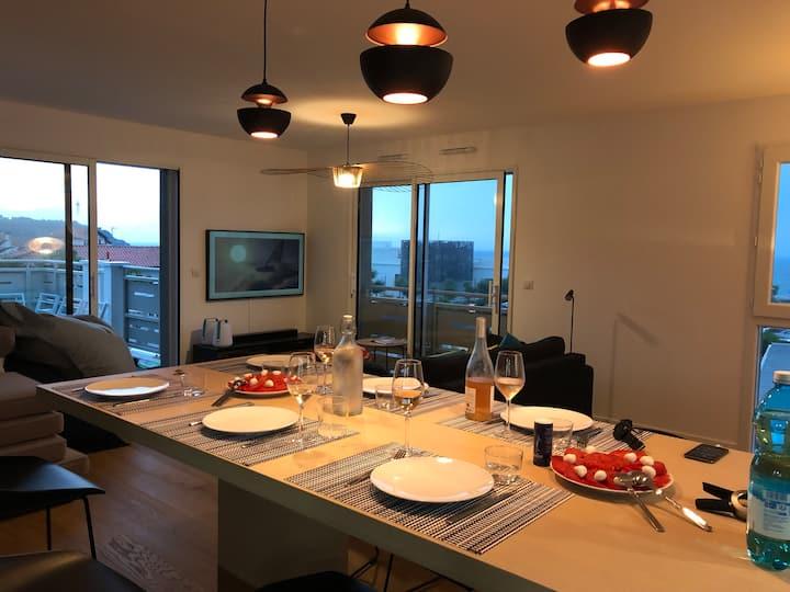 Appartement d'exception vue sur phare de Biarritz