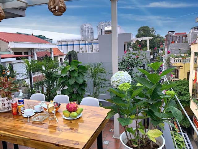Roof terrace for group parties
