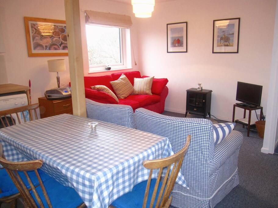Trehanoo Annexe dining and sitting room
