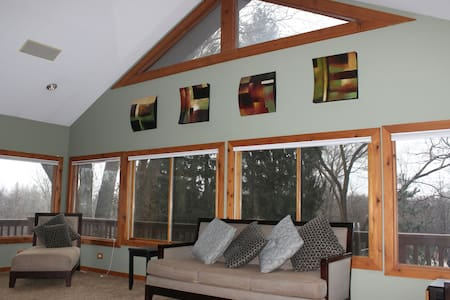 Beautiful 5acre Cabin Ranch House. - North Barrington - Ház