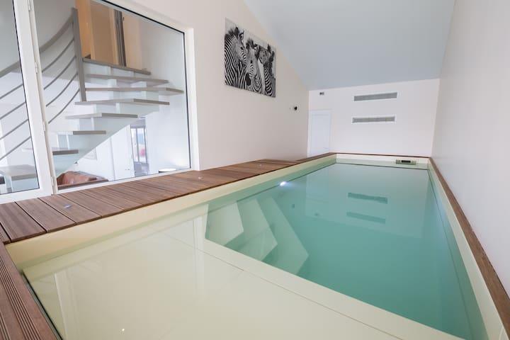 Penthouse duplex piscine intérieure et spa vue mer - Saint-Hilaire-de-Riez - Lejlighed