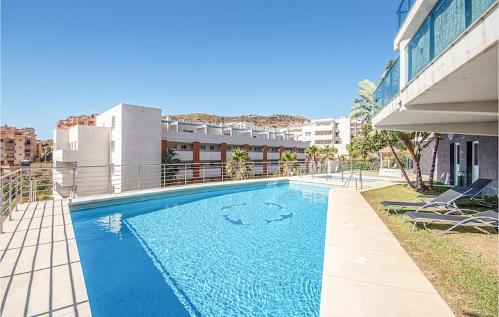 Awesome apartment in Mijas Costa with Outdoor swimming pool, Outdoor swimming pool and 2 Bedrooms