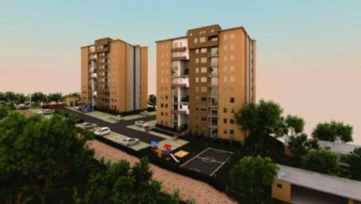 Apartamento duplex en unidad campestre