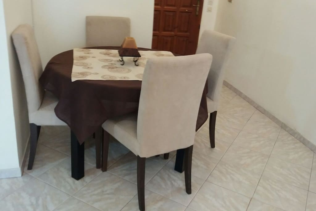 a dinning table.