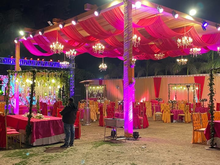 Vintage farm for mehendi and cocktail function