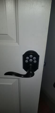 Keypad to bedroom door