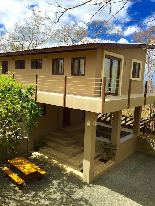 Our 3 bedroom house on stilts just a 5-minute-stroll away from playa Maderas