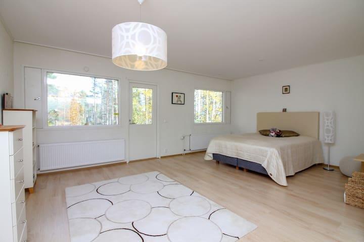 "Bedroom 1 in cottage ""Taipalsaari House"" in Lappeenranta"