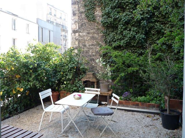 Du charme, esprit loft & terrasse ! - Paris - Daire