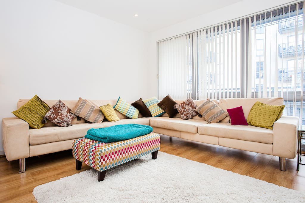 A 10ft sofa to relax on at the end of the day