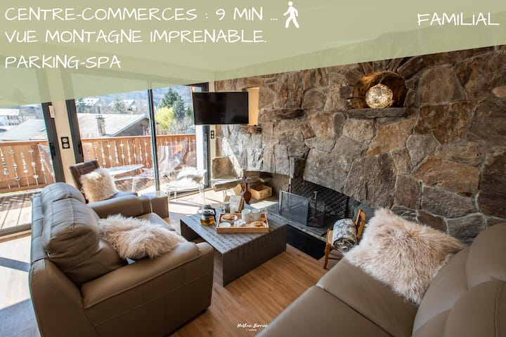 Chalet/Centre village: Comfort 4ch /vue imprenable