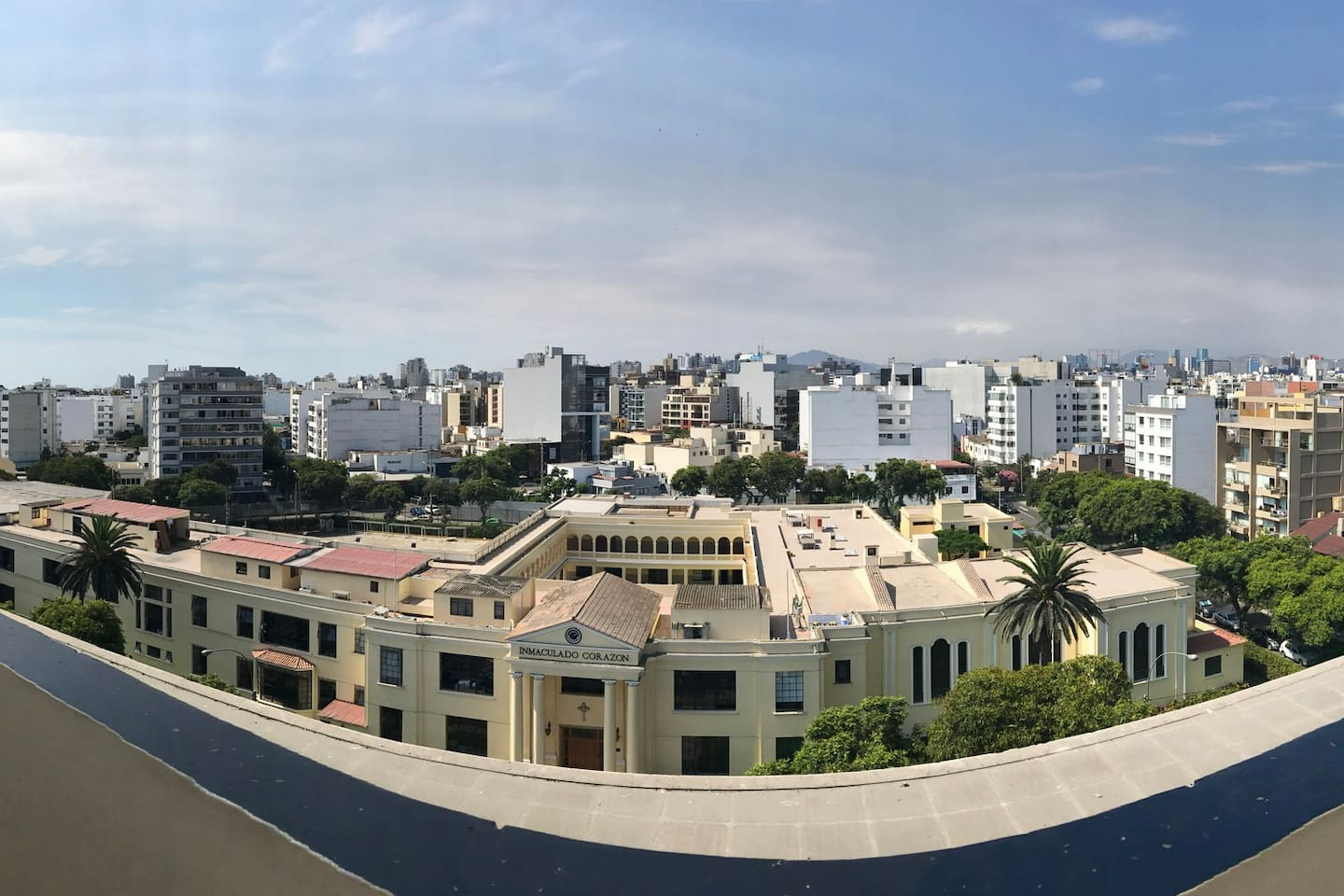 This is the view from your terrace, located in the second floor of the apartment, where the bbq is.