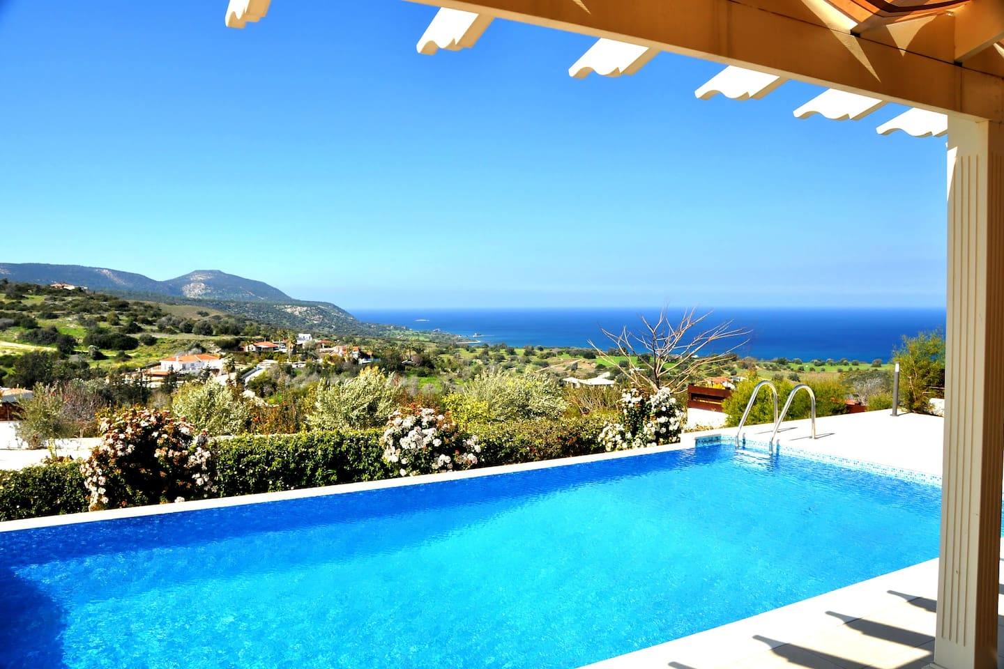 View from the Verandah of the Akamas Peninsula, the Baths of Aphrodite and Chrysochou Bay