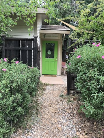 The entrance to the cottage; just steps from where you can park your car