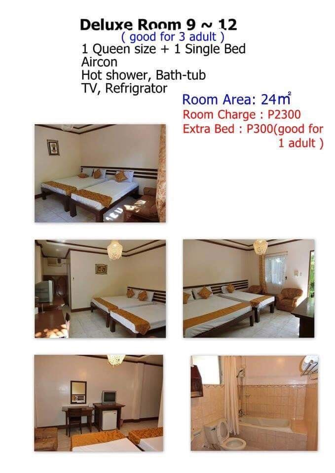 Deluxe room with bath tab with hot and cold shower with 32 inches flat screen tv and refrigerator.
