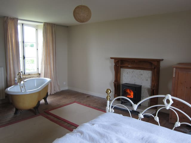 Double room with private bath in Normandy - Le Lorey - Casa