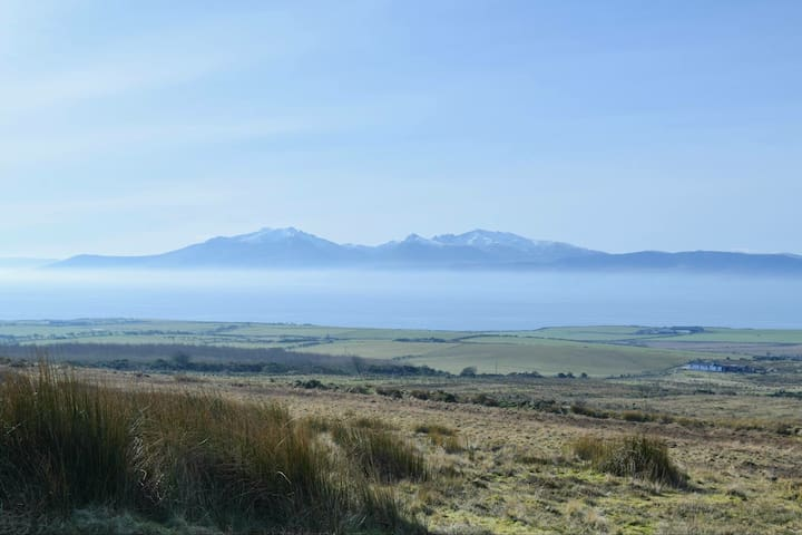 The view from the top of Lord James' Ride, looking across to Arran.
